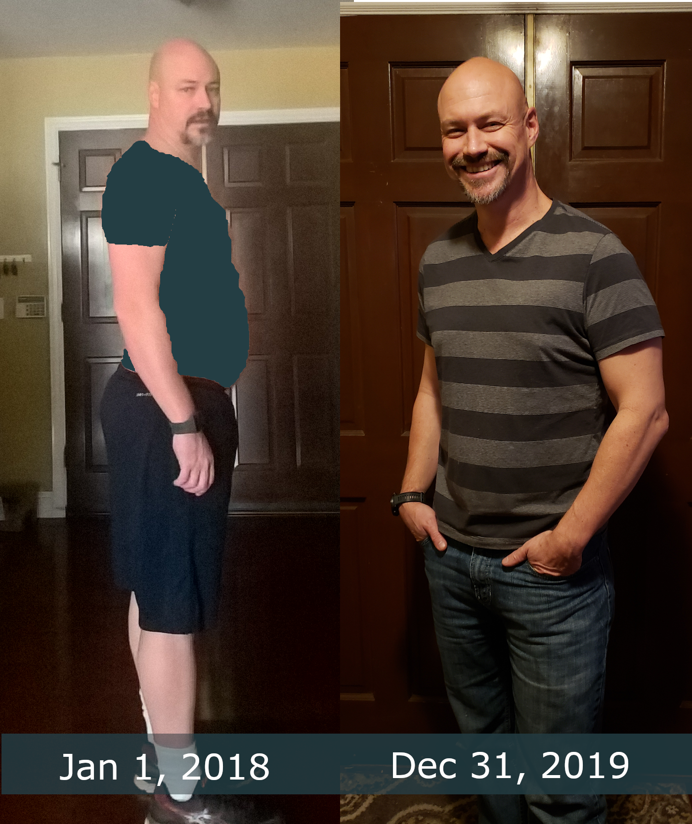 2 years of exercise - before and after